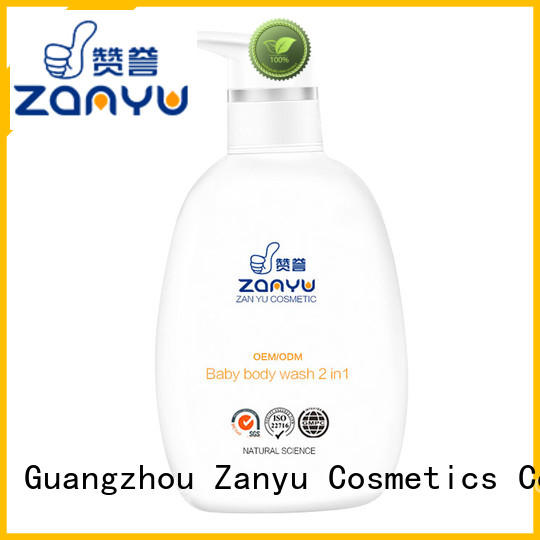 Zanyu Custom baby body wash products company for baby